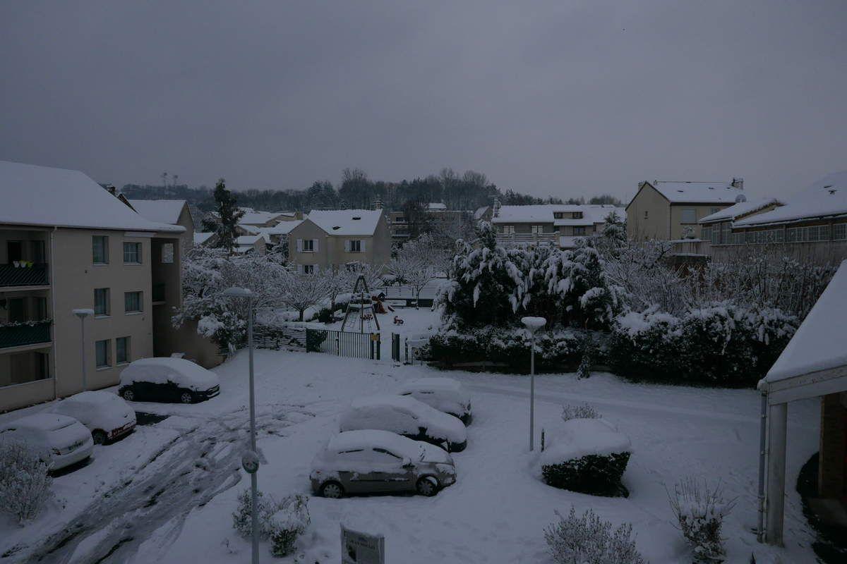 Le Mont-Valérien sous la neige