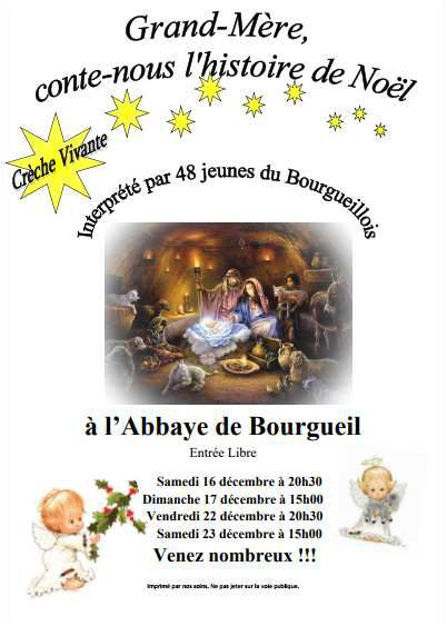 La crèche vivante et ses coulisses : spectacle de noël à Bourgueil.