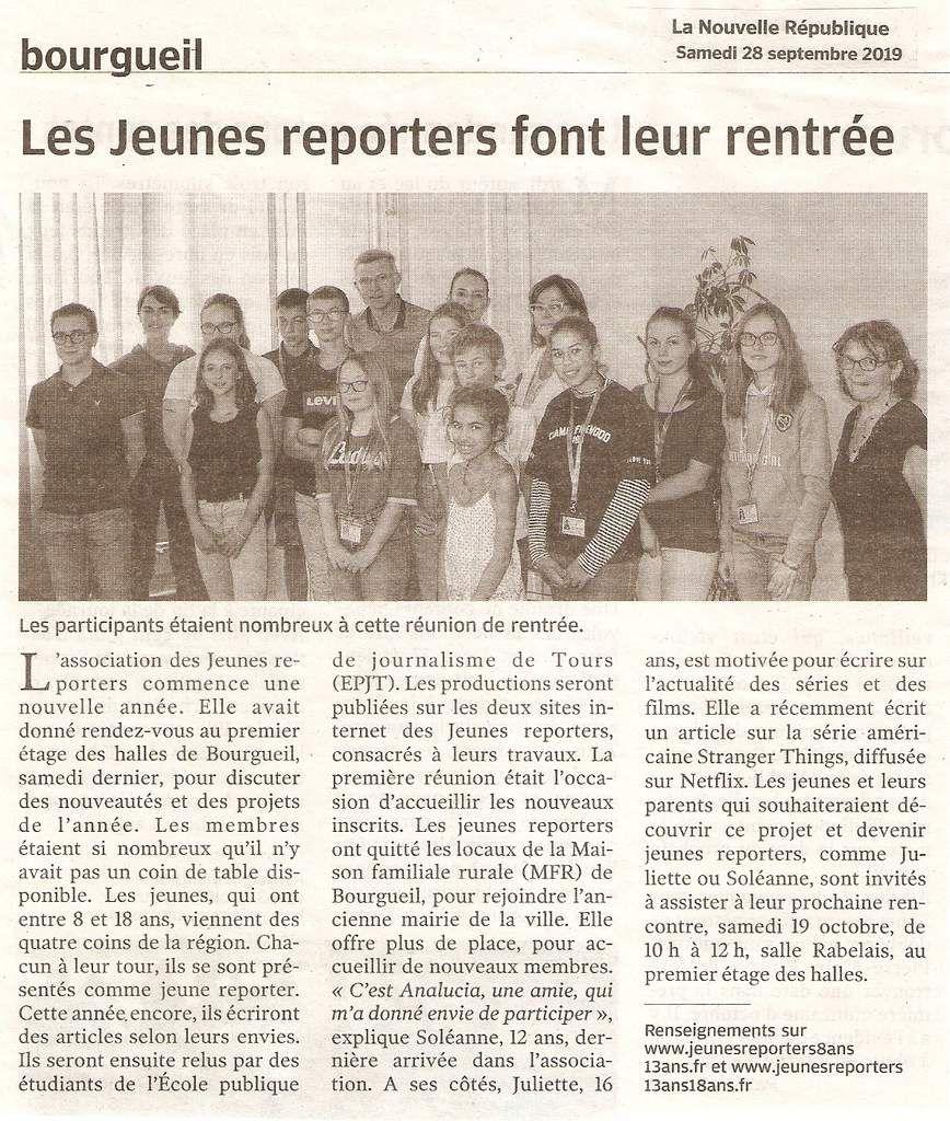 Revue de presse 2019 Jeunes reporters