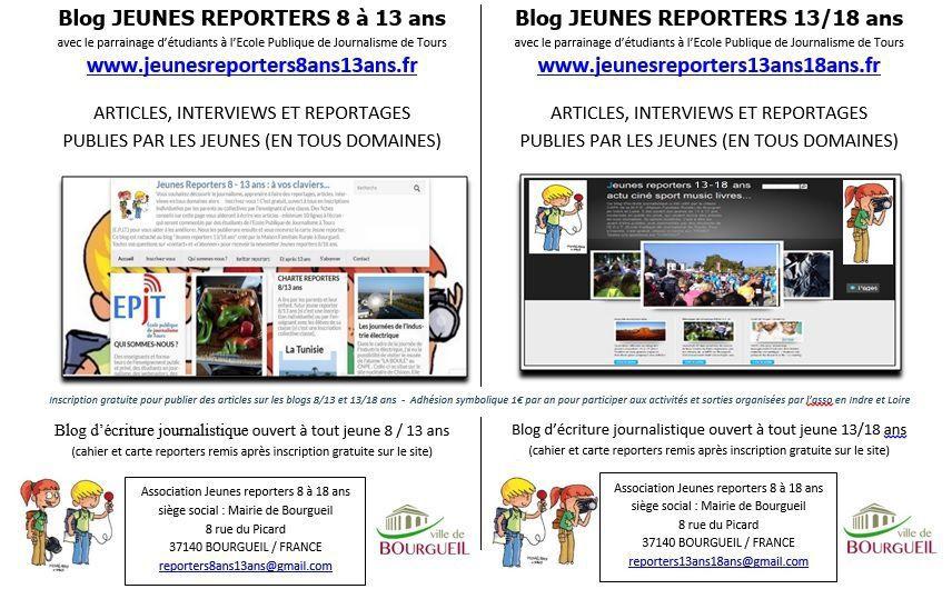 Asso jeunes reporters 8/18 ans