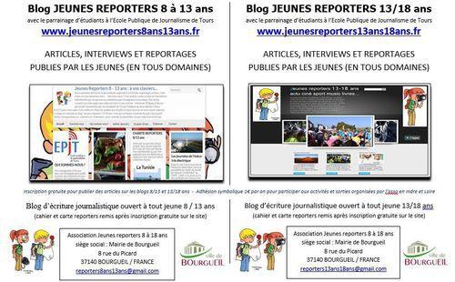 Devenez Jeune reporter 13/18 ans