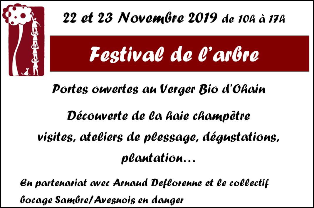 Festival de l'arbre 2019 au Verger Bio d'Ohain