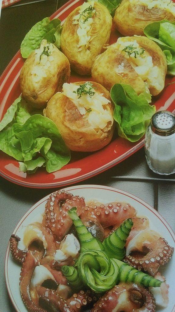 Salade de pommes de terre, feuille de vigne farcies