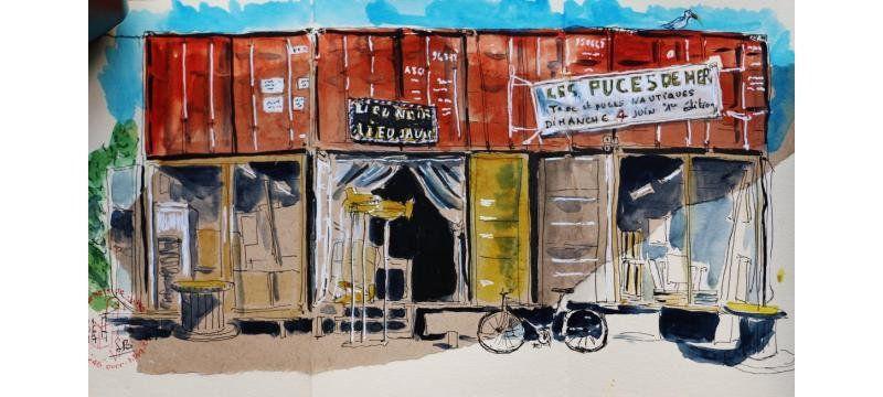 """l'atelier """"lieu noir, lieu jaune"""" vu par Sylvie Bargain"""