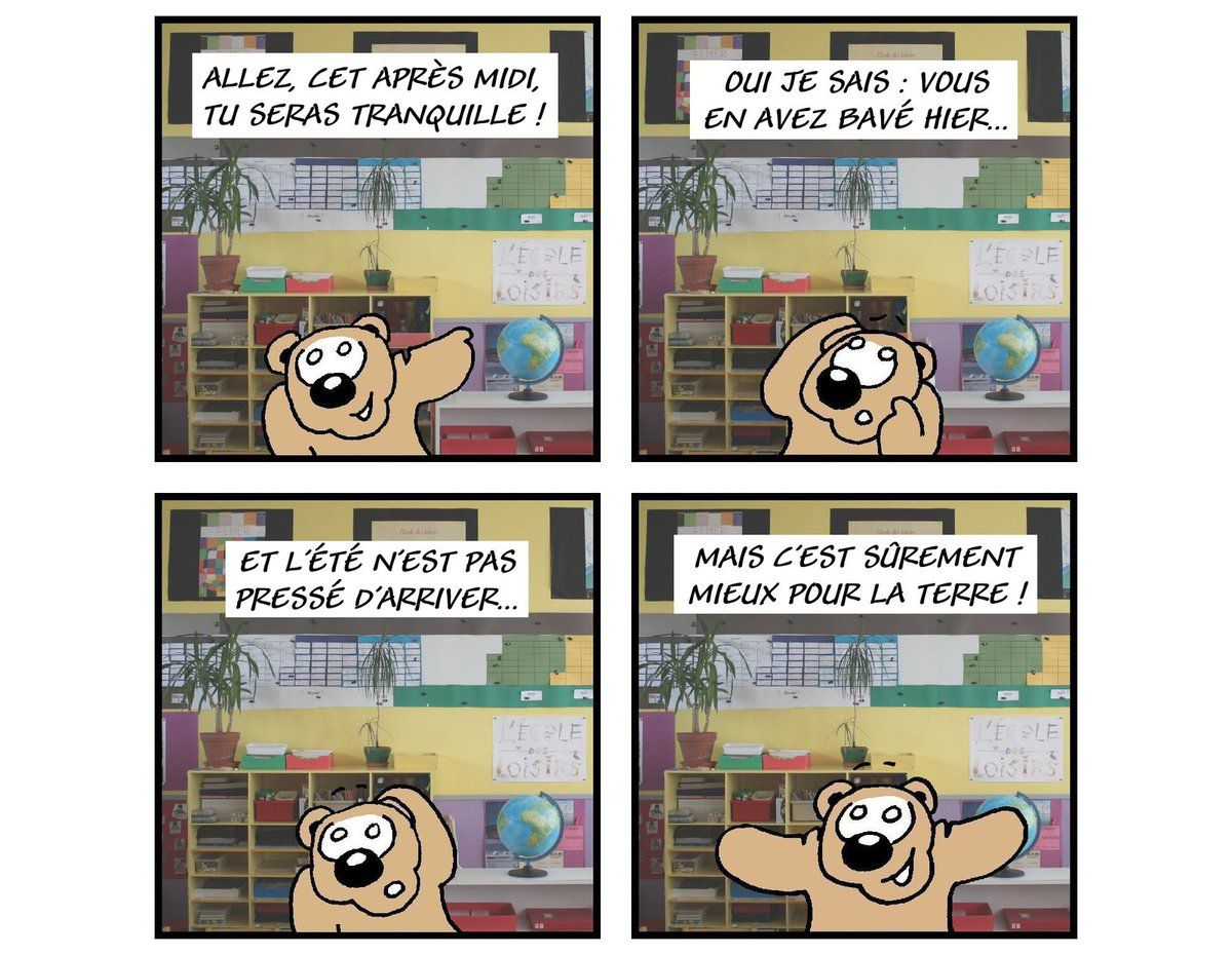 Ecole ? Oh, jus hein !