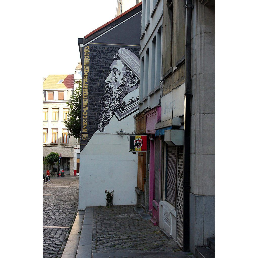 Portrait de Bruegel par Arno Debal - rue du Chevreuil 7