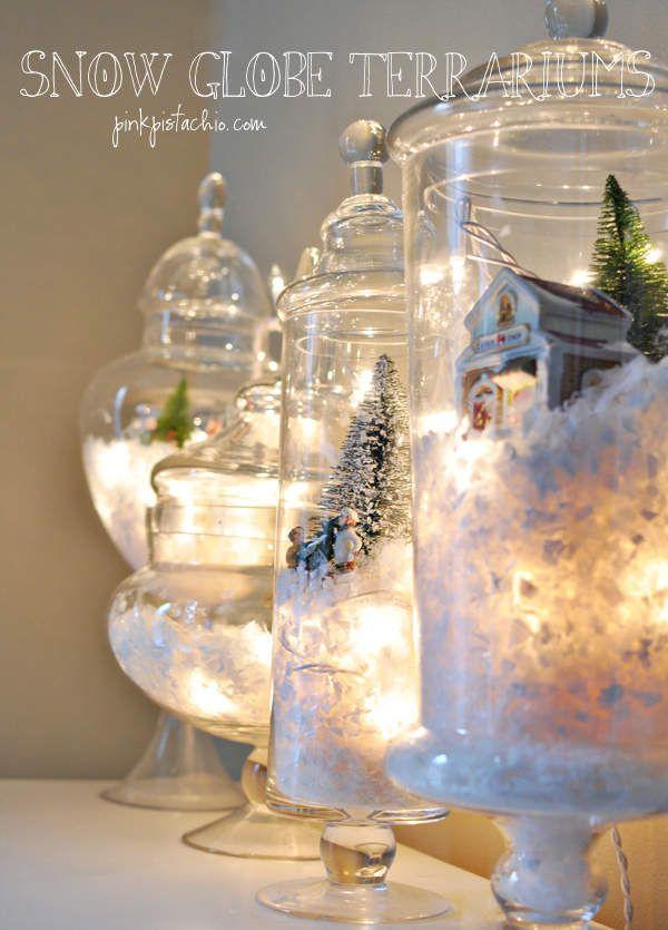 bonbonnière en verre terrarium noel
