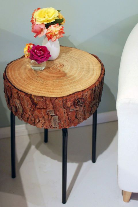 table basse rondin