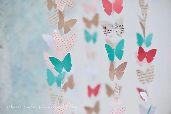 Réalisation De Mobiles De Papillons En Papier Lidée Déco