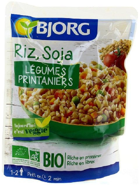Riz soja aux petits l gumes printaniers bjorg mamy for Soja cuisine bjorg