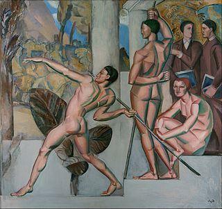 Tableau de Gorg Pauli intitulé Mens sana in corpore sano 1912