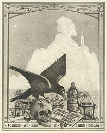 Frontispice du Mystère des Cathédrales de Fulcanelli par Julien Champagne 1926