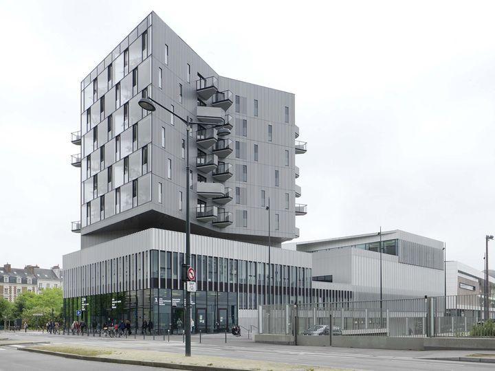 la nouvelle Cité Internationale étudiante à Rennes Bd de la Liberté