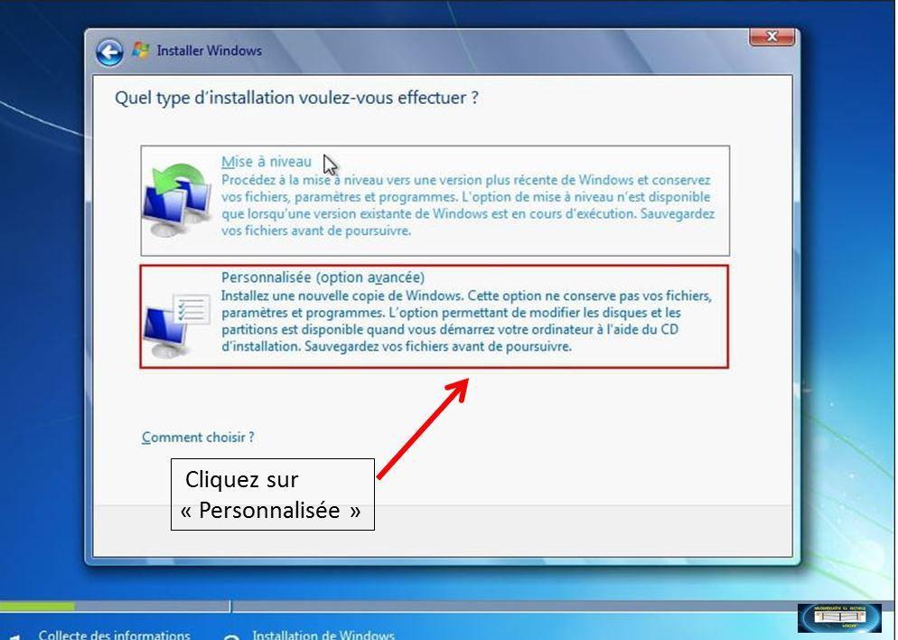 (Particulier) Installation Windows 7 (image)