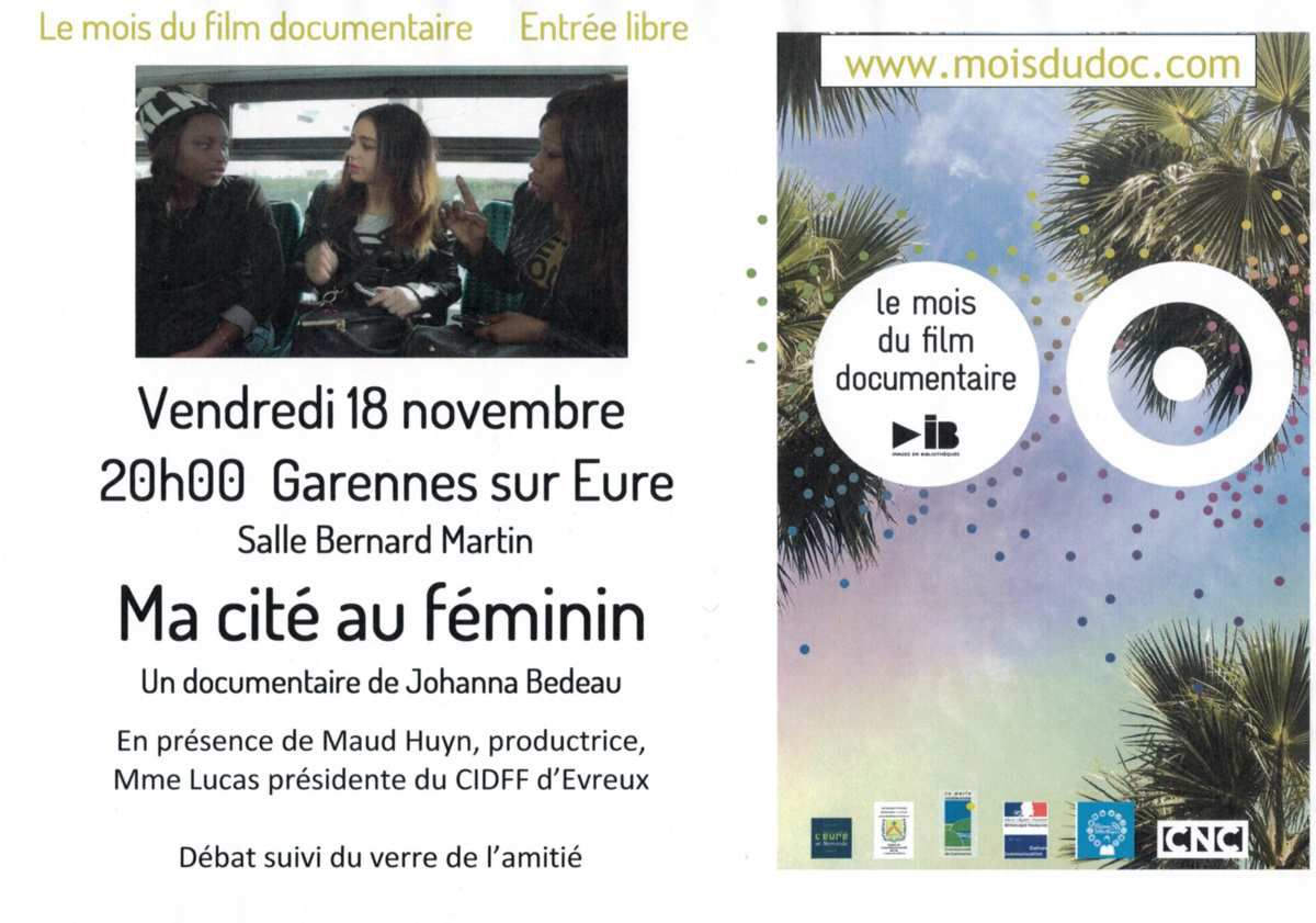 Le documentaire sera suivi d'un débat avec la productrice et la directrice du centre d'information sur les droits des femmes et des familles puis d'un verre de l'amitié.