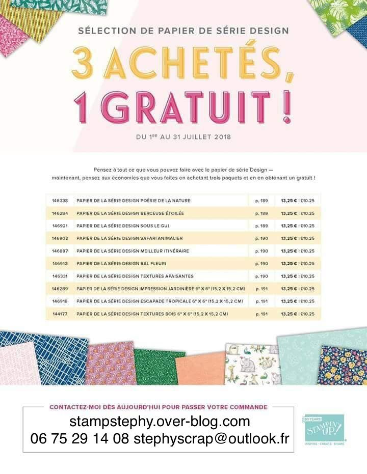 Promotion papier stampin'up