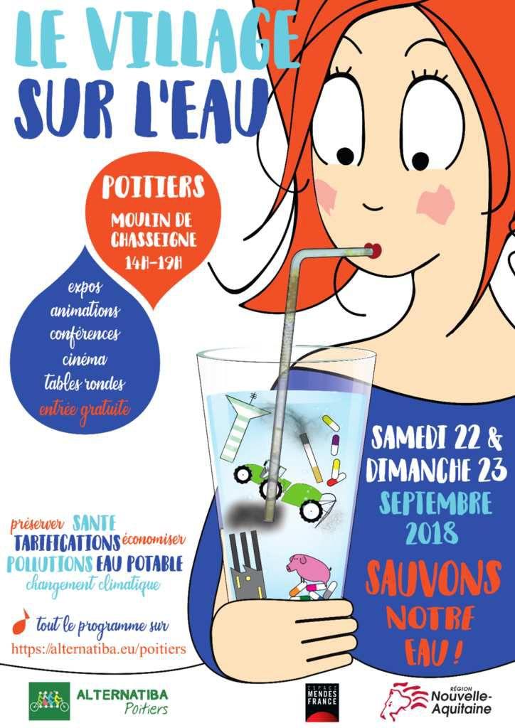 Sauvons notre eau ! samedi 22 et dimanche 23 septembre 2018 au moulin de Chasseigne à Poitiers