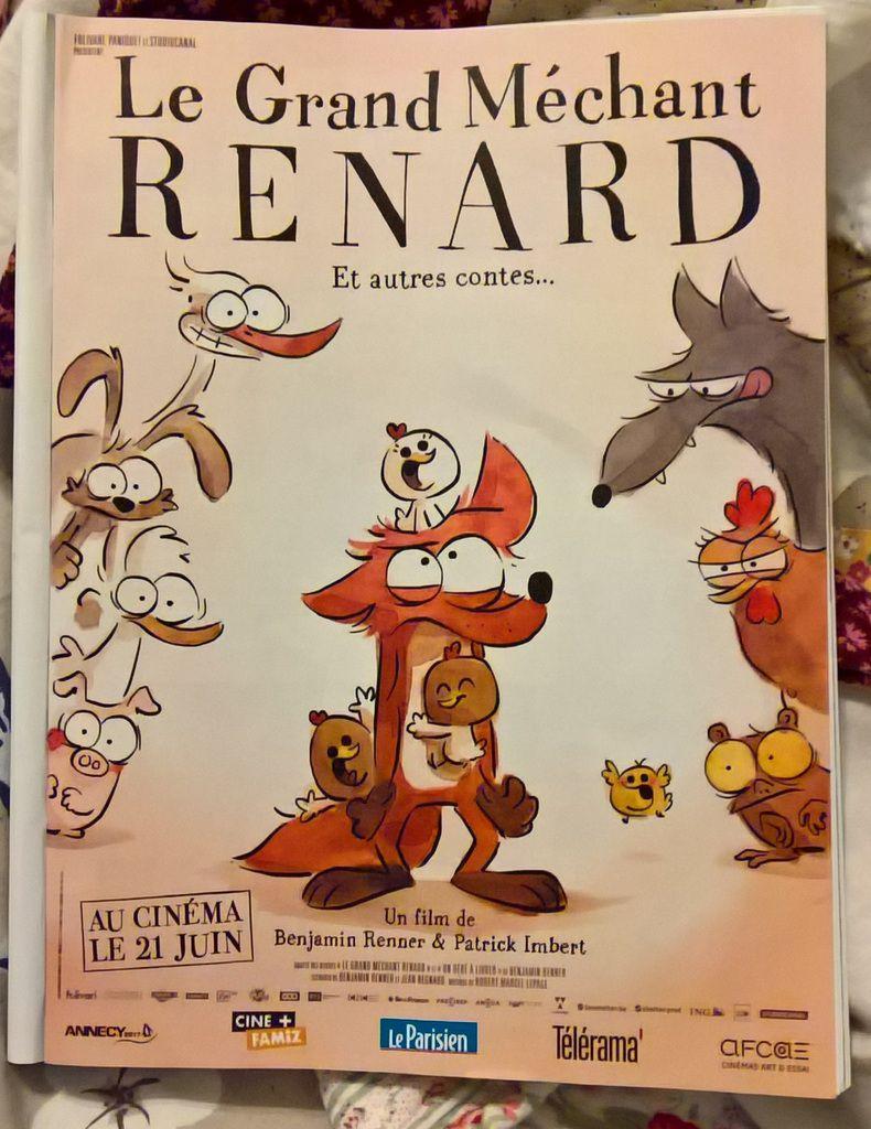 Le grand méchant renard film dessin animé français Benjamin Rennert Patrick Imbert