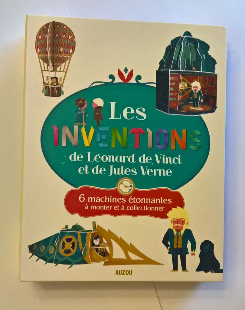 maquettes faciles inventions Vinci Vernes enfant kids DIY