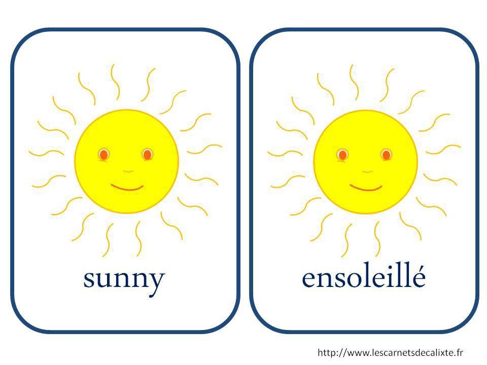 sunny météo anglais