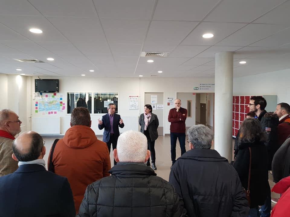 Avec les associations du canton au Collège Pierre Gilles-de-Gennes en décembre 2019