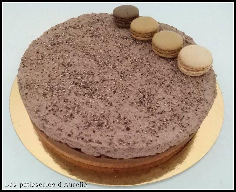 Royal au chocolat croustillant