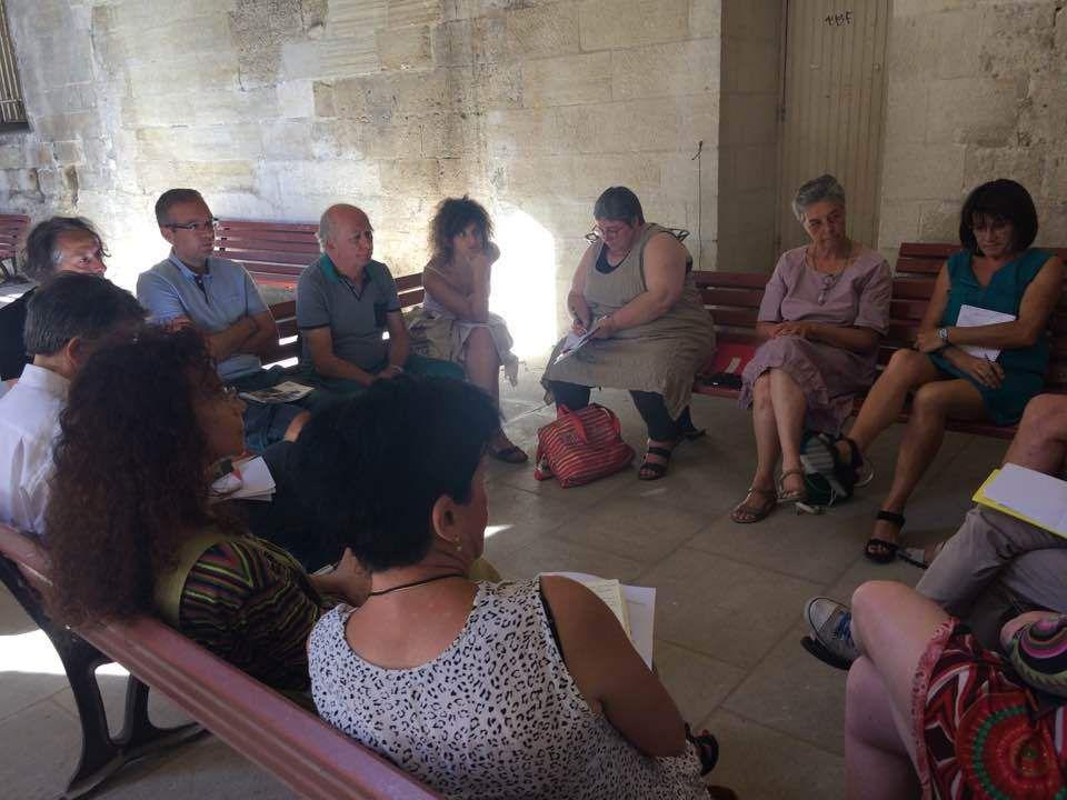 Dans le cadre des rencontres de la FNCC, atelier sur l'éducation artistique et culturelle au cloître des Carmes