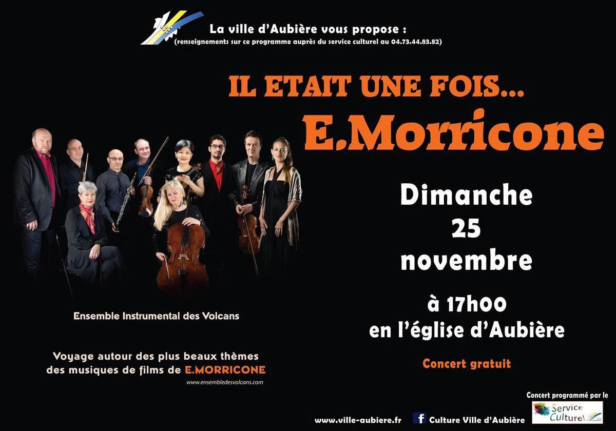 Enio MORRICONE à l'honneur à Aubière