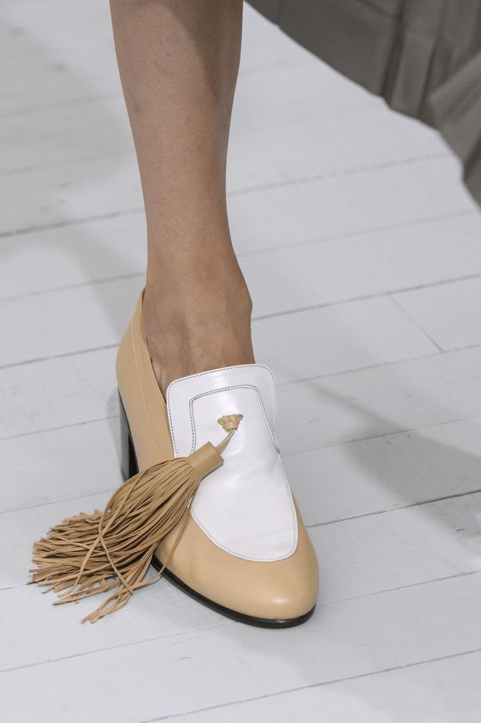 Mocassins Blancs Céline-Céline White Loafers