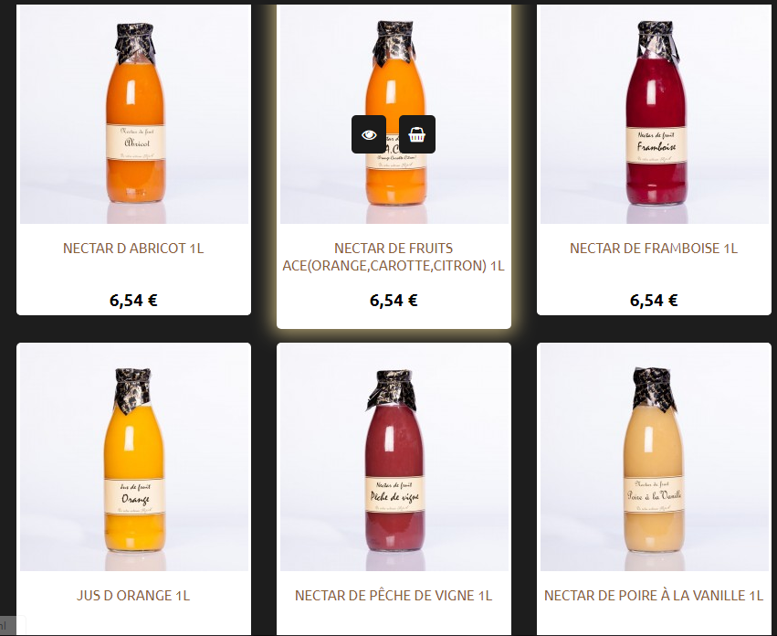 Les jus et les nectars-Juices and nectars