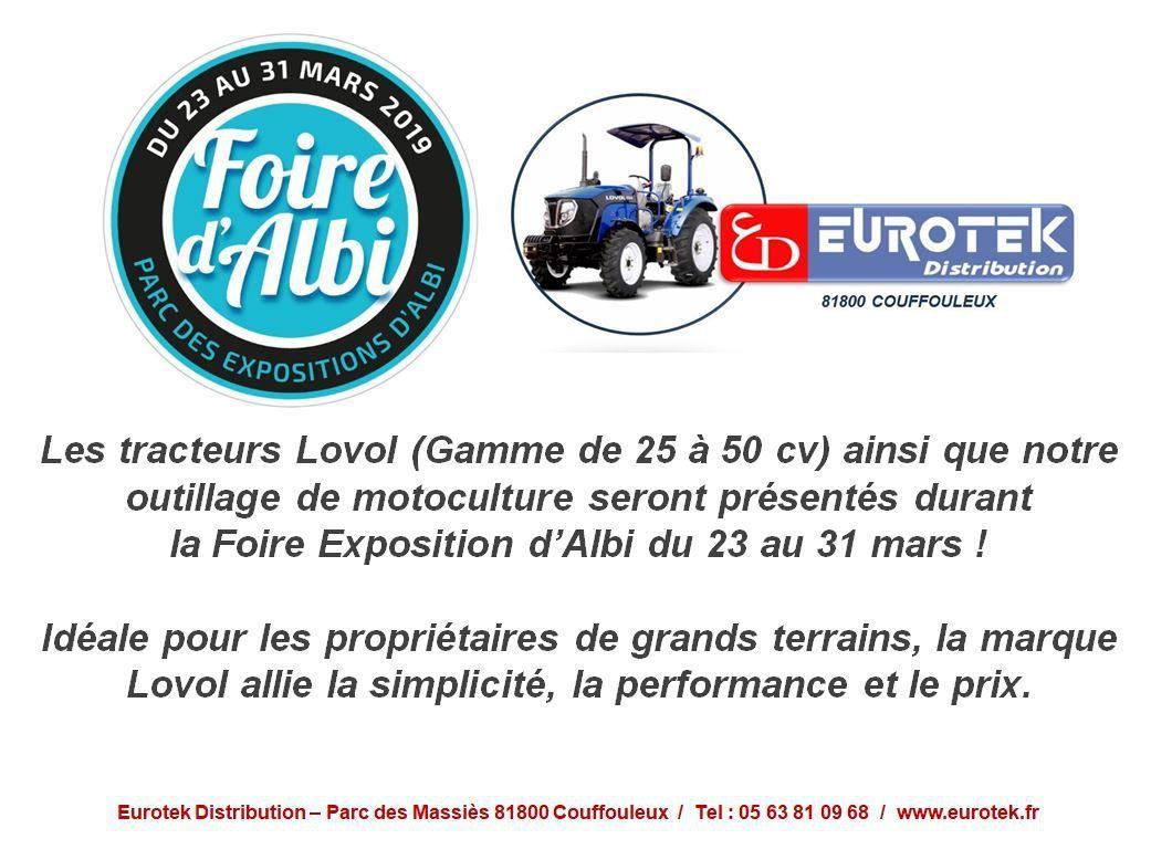 eurotek et les tracteurs lovol à la foire exposition d'albi - propriétaires de belles demeures et chateaux