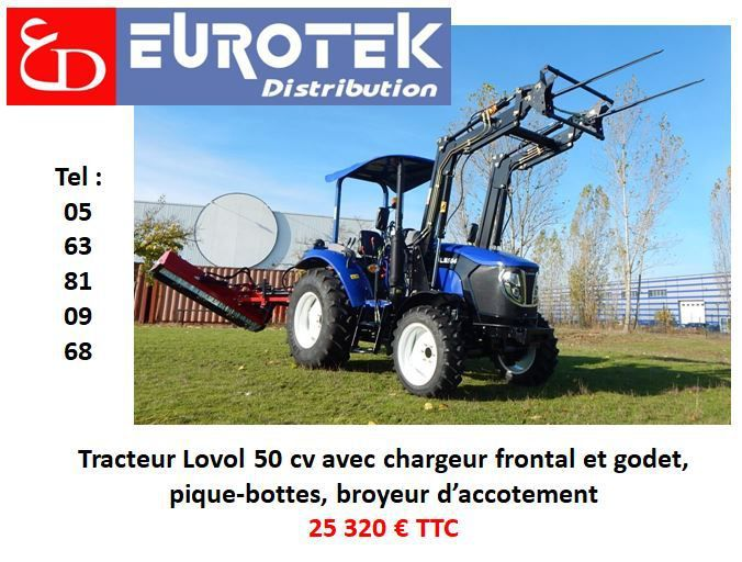 tracteur lovol au Grand tournoi au game fair et à l'Open de France Generali Parc fédéral lamotte beuvron