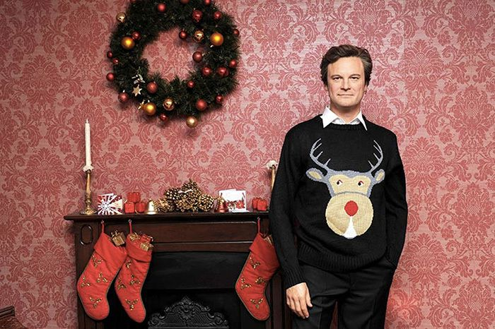 Colin Firth et son iconique pull de Noël dans Bridget Jones...