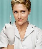 The série : Nurse Jackie avec l'excellente Edie Falco