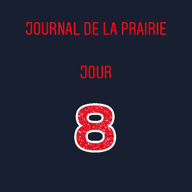 Journal de la prairie jour 8