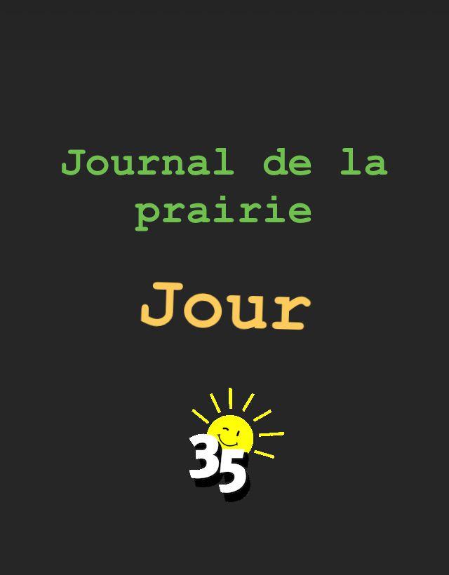 Journal de la prairie jour 35
