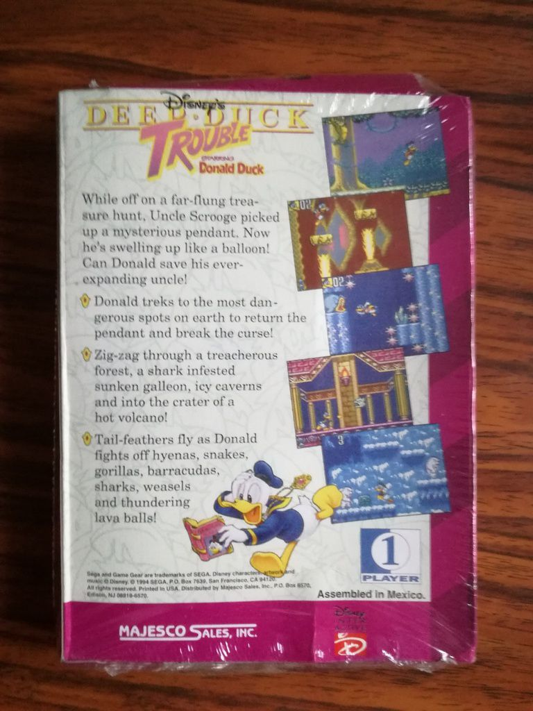 Deep Duck Trouble starring Donald Duck - Game Gear