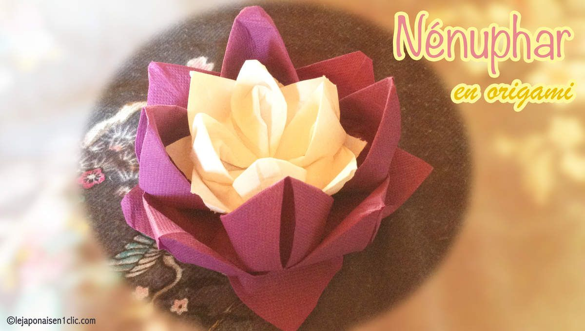 #nenuphar #origami #blogdeippikicat #DIY #decotable