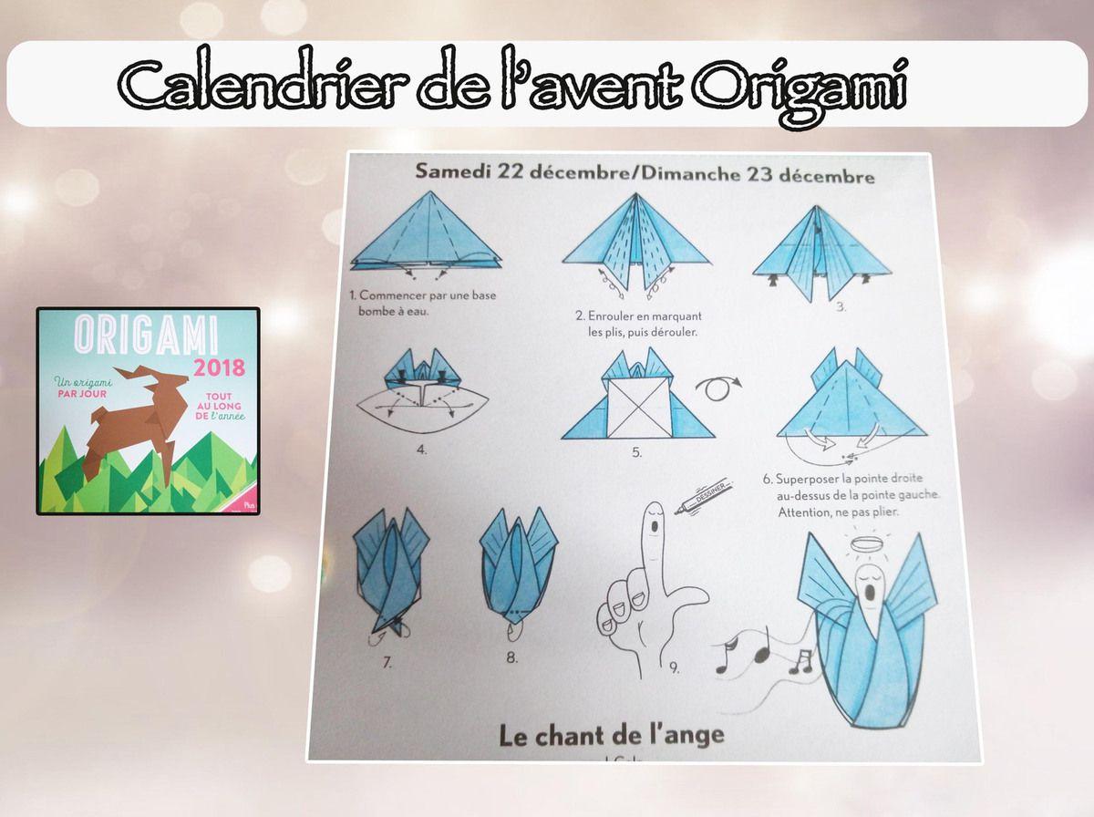 Calendrier de l'avent spécial origami : 22 et 23 décembre