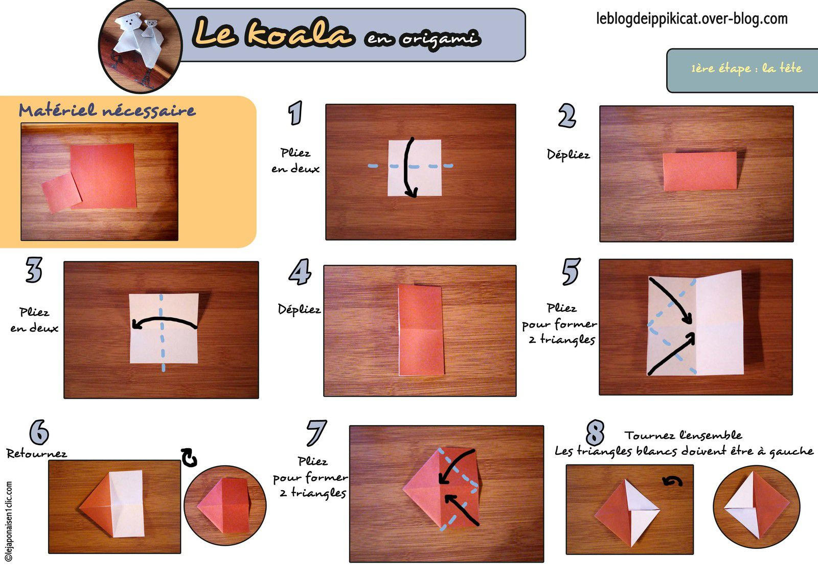 #koala #origami #blogdeippikicat #lejaponaisen1clic