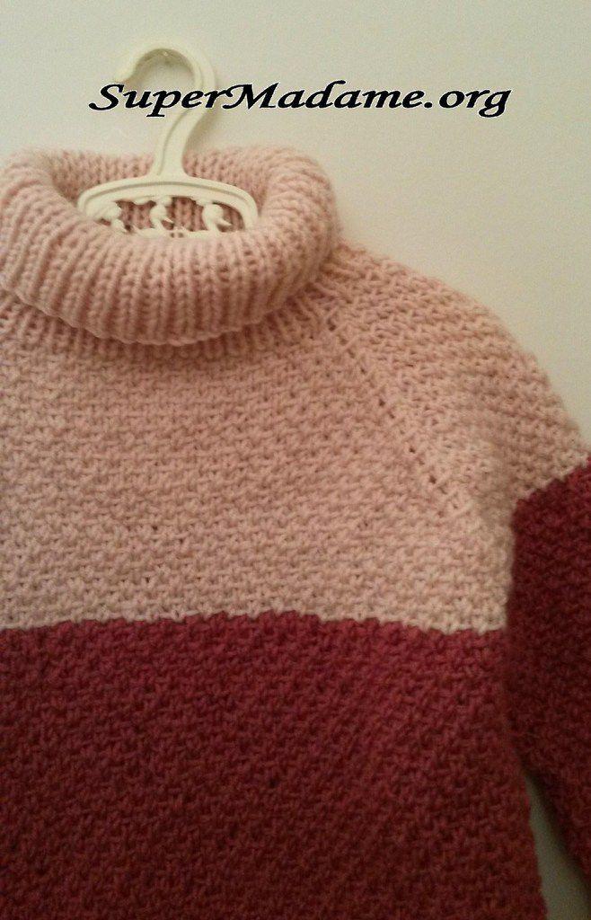 Modèle gratuit de tricot facile : une robe en 7 ans