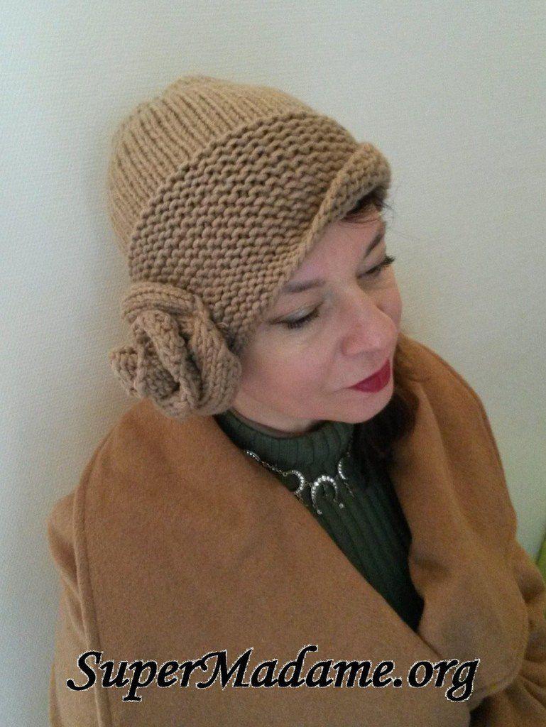 Modele de tricot gratuit : bonnet cloche années 20