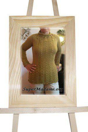 Modèle de tricot gratuit : pull femme effet belles courbes