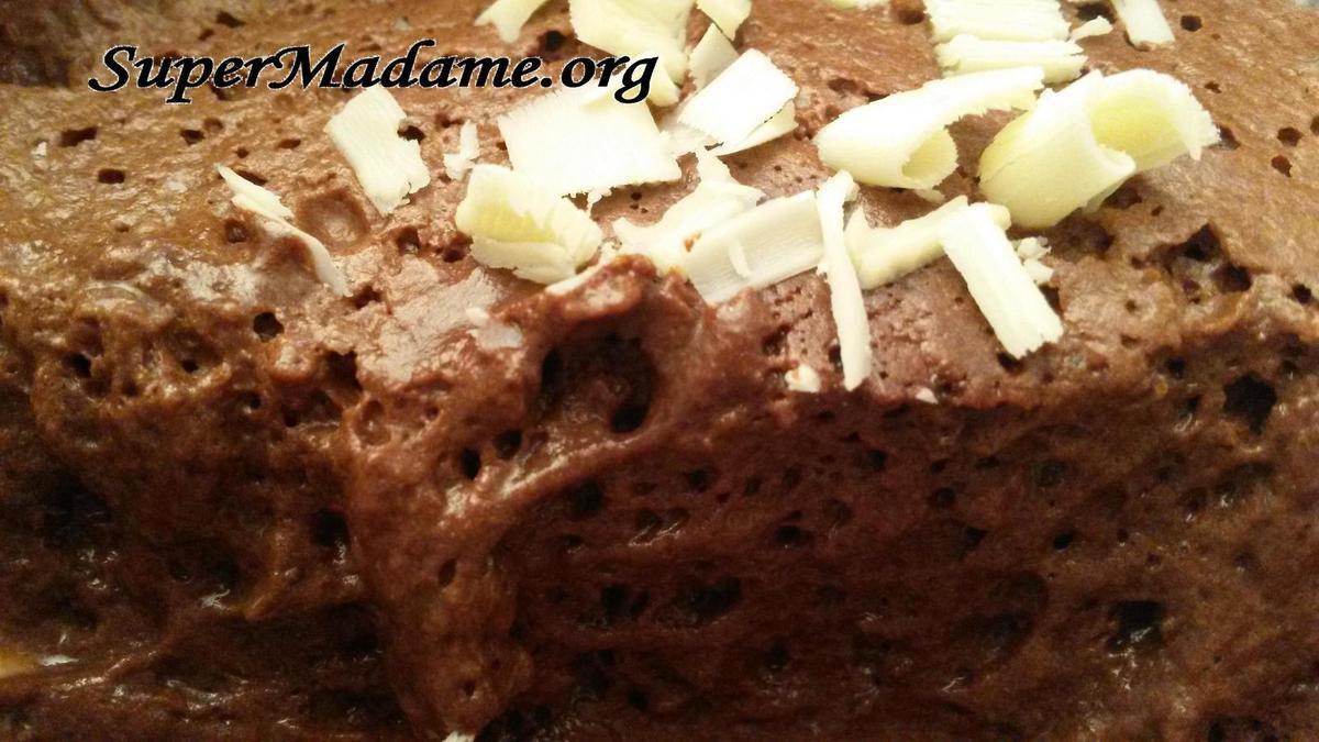 Mousse au chocolat ultra légère sans oeufs (à l'eau de pois chiches)