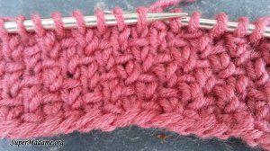 Tricot points pour un tricot qui ne roule pas