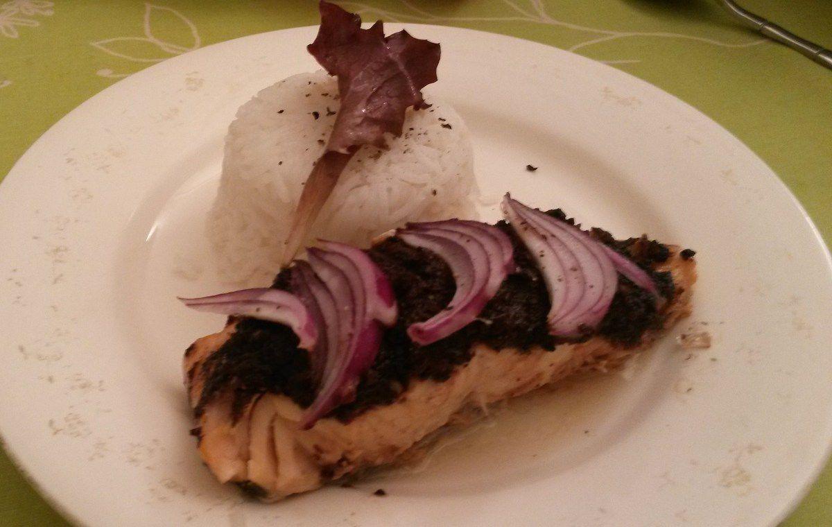 Recette express gourmande saumon tapenade