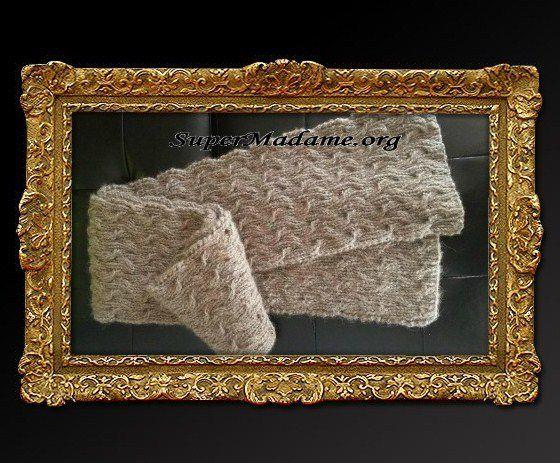 Modele tricot gratuit écharpe homme originale
