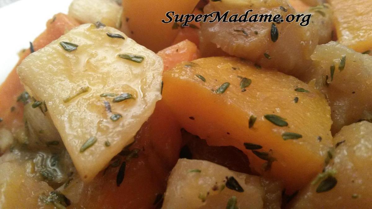 Recette veggie plat pas cher navets carottes