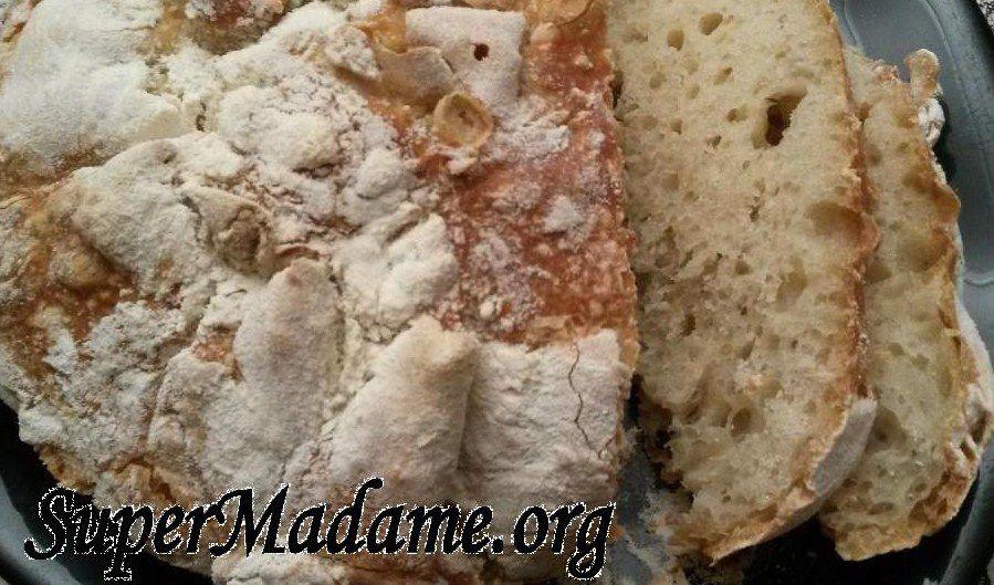 Recette de bon pain fait maison comme chez le boulanger (sans pétrissage)