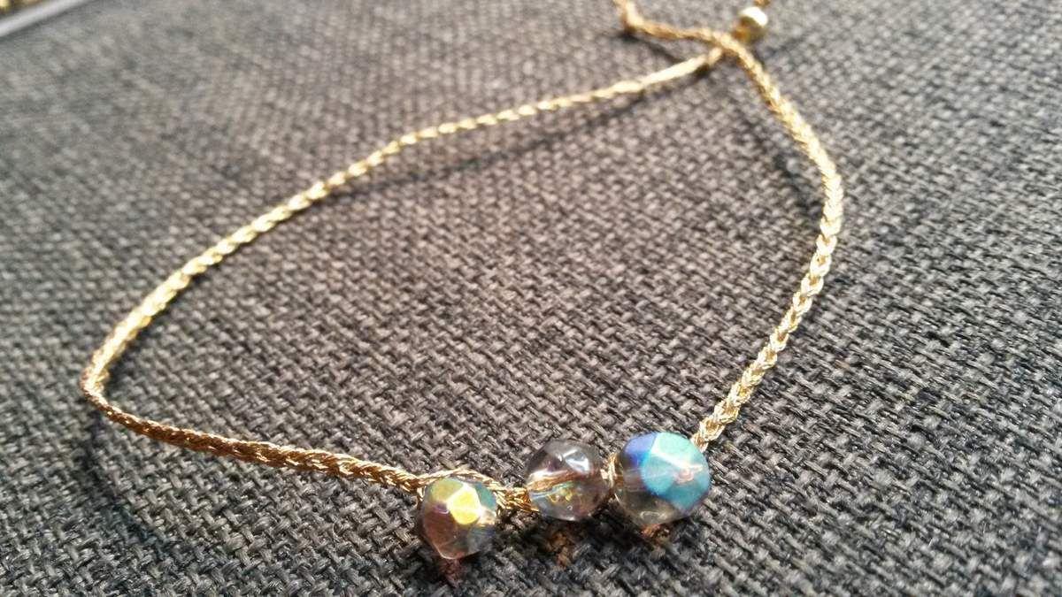 Idée cadeau DIY bracelet or léger